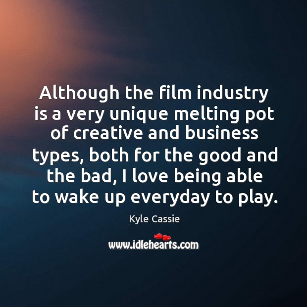 Image, Although the film industry is a very unique melting pot of creative