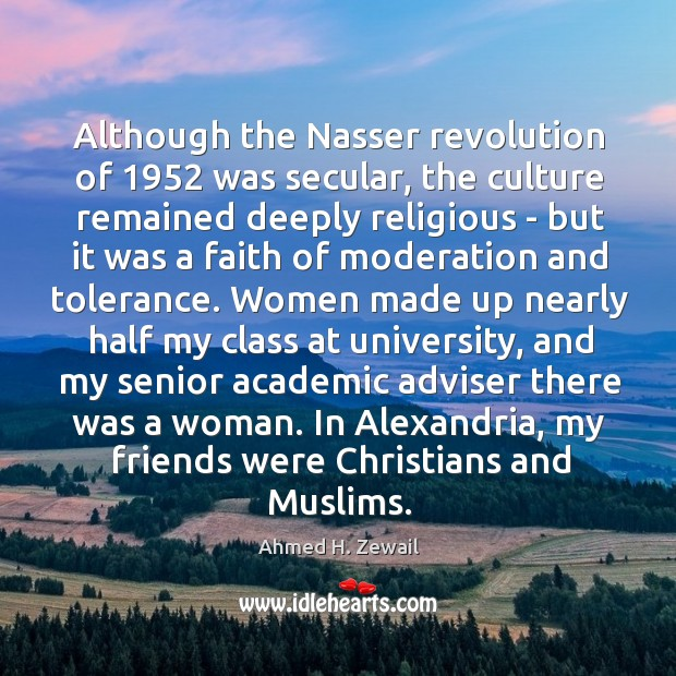 Image, Although the Nasser revolution of 1952 was secular, the culture remained deeply religious