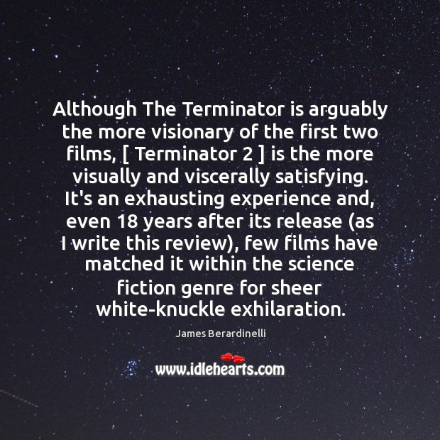 Image, Although The Terminator is arguably the more visionary of the first two