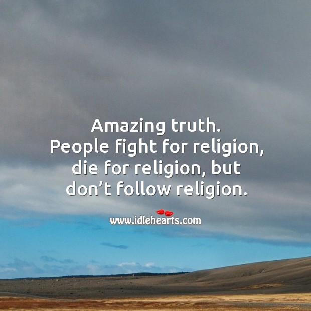 Amazing truth about religion. Image