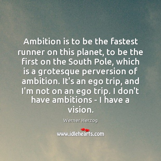 Image, Ambition is to be the fastest runner on this planet, to be