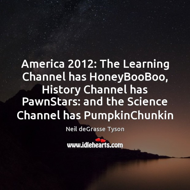 America 2012: The Learning Channel has HoneyBooBoo, History Channel has PawnStars: and the Image