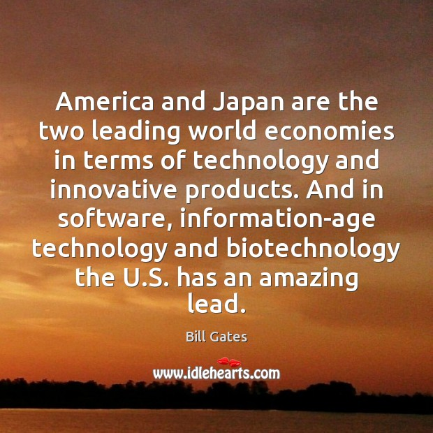 America and Japan are the two leading world economies in terms of Image
