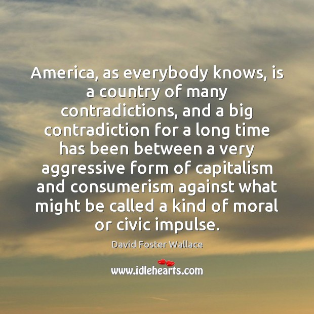 America, as everybody knows, is a country of many contradictions, and a Image