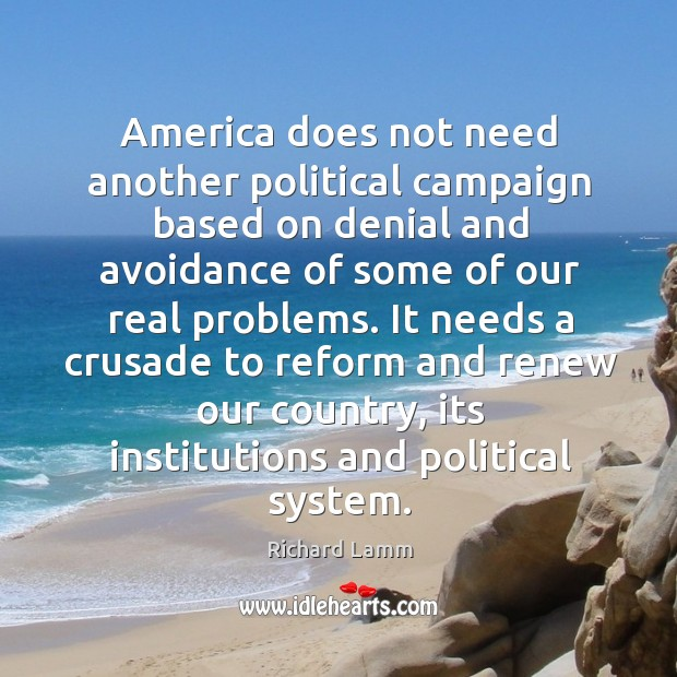 Image, America does not need another political campaign based on denial and avoidance