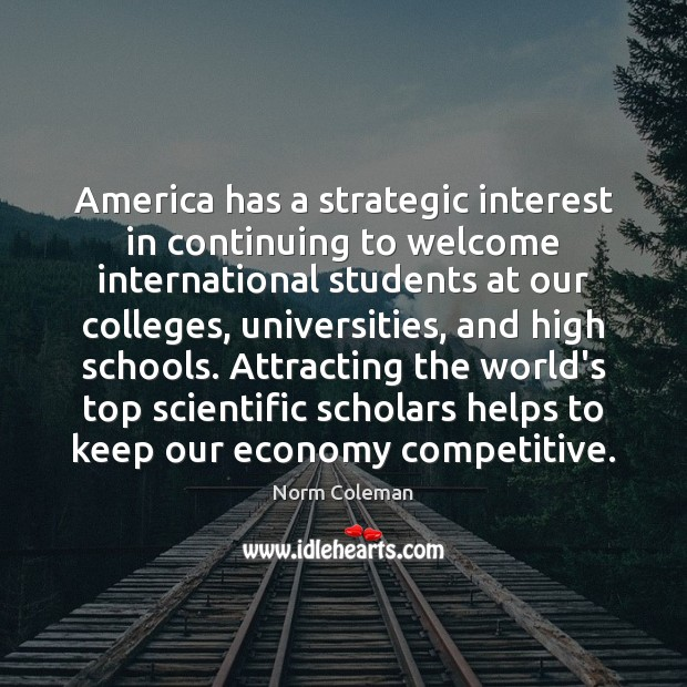 Image, America has a strategic interest in continuing to welcome international students at