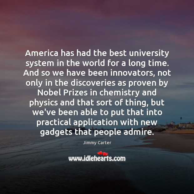 America has had the best university system in the world for a Image