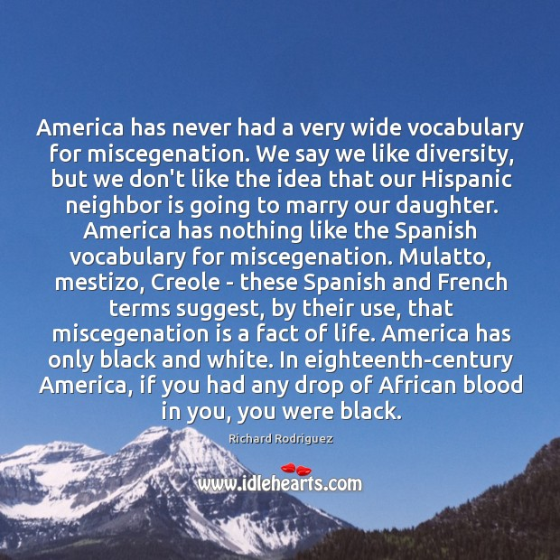 Image, America has never had a very wide vocabulary for miscegenation. We say