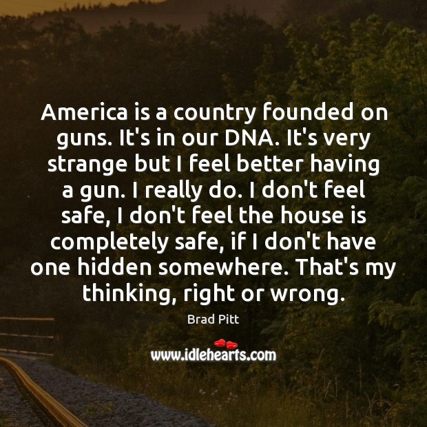 America is a country founded on guns. It's in our DNA. It's Image