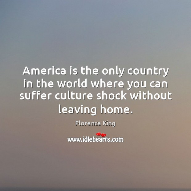 America is the only country in the world where you can suffer Florence King Picture Quote