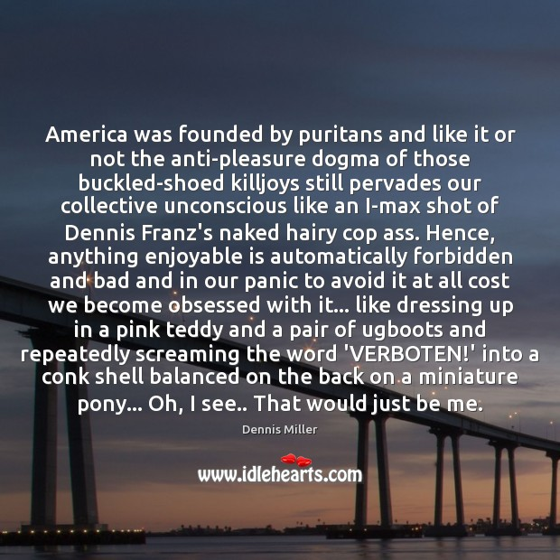 Image, America was founded by puritans and like it or not the anti-pleasure
