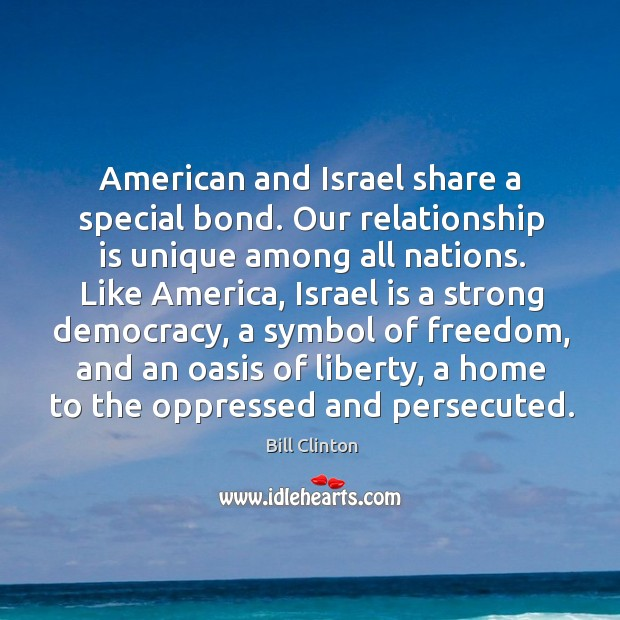 Image, American and israel share a special bond.