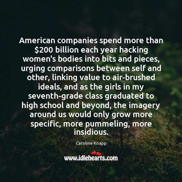 Image, American companies spend more than $200 billion each year hacking women's bodies into