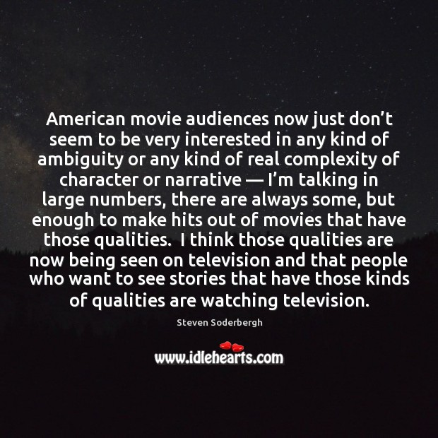 American movie audiences now just don't seem to be very interested Image