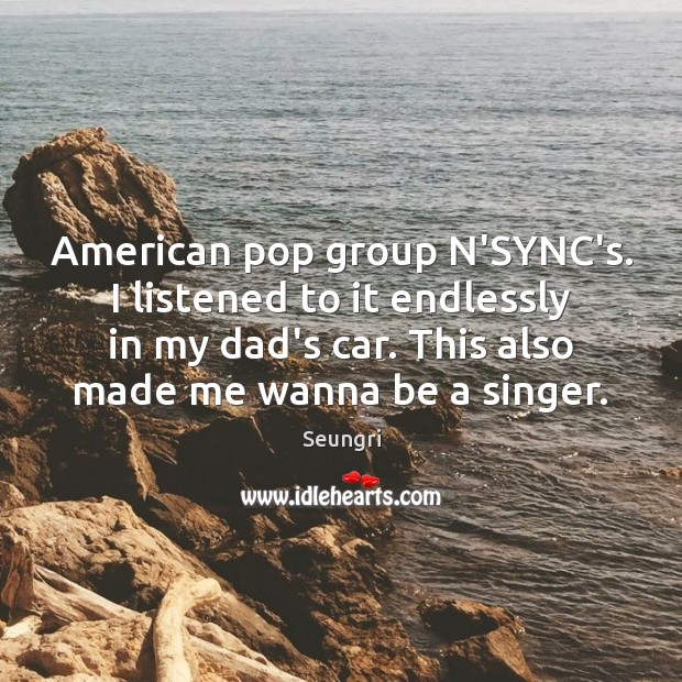 Image, American pop group N'SYNC's. I listened to it endlessly in my dad's