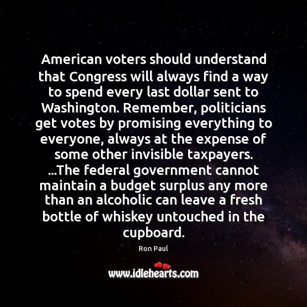 Image, American voters should understand that Congress will always find a way to