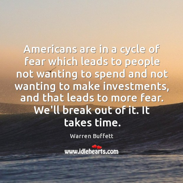Image, Americans are in a cycle of fear which leads to people not
