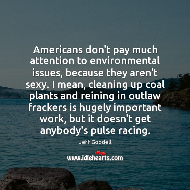 Americans don't pay much attention to environmental issues, because they aren't sexy. Image