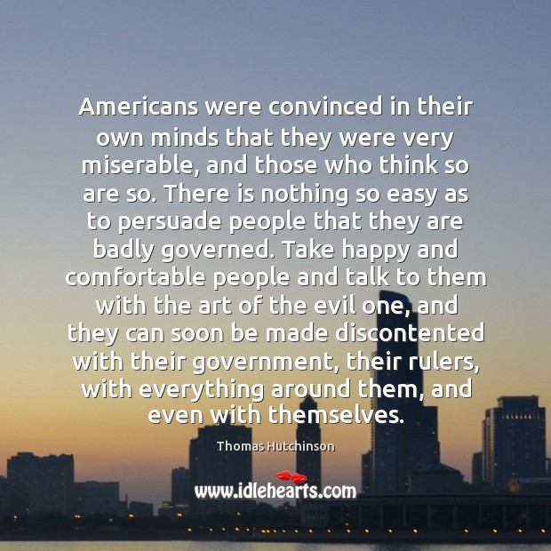 Americans were convinced in their own minds that they were very miserable, Image
