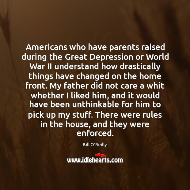 Americans who have parents raised during the Great Depression or World War Image