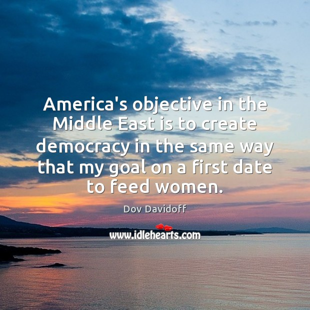 Image, America's objective in the Middle East is to create democracy in the