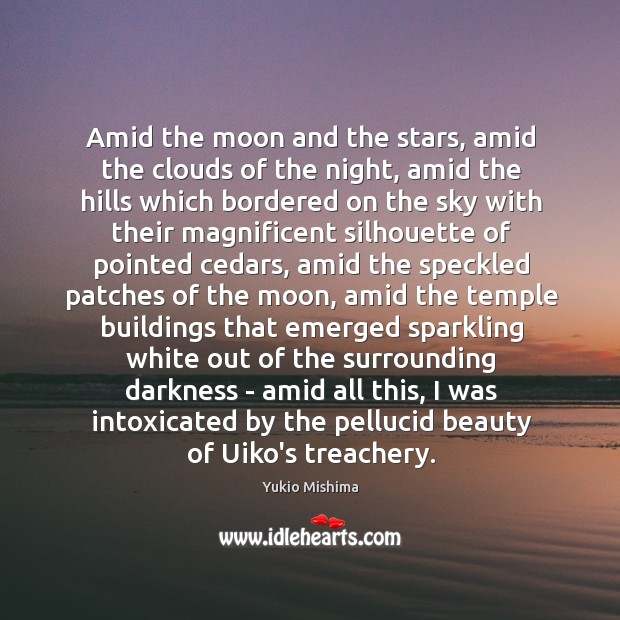 Image, Amid the moon and the stars, amid the clouds of the night,
