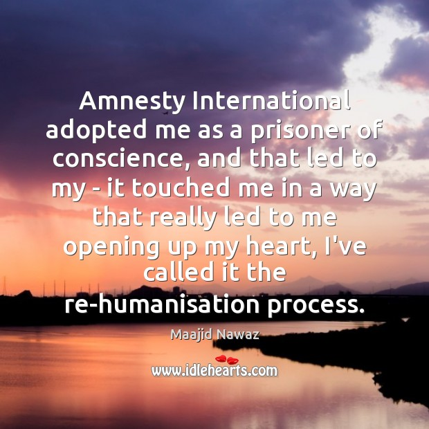 Image, Amnesty International adopted me as a prisoner of conscience, and that led