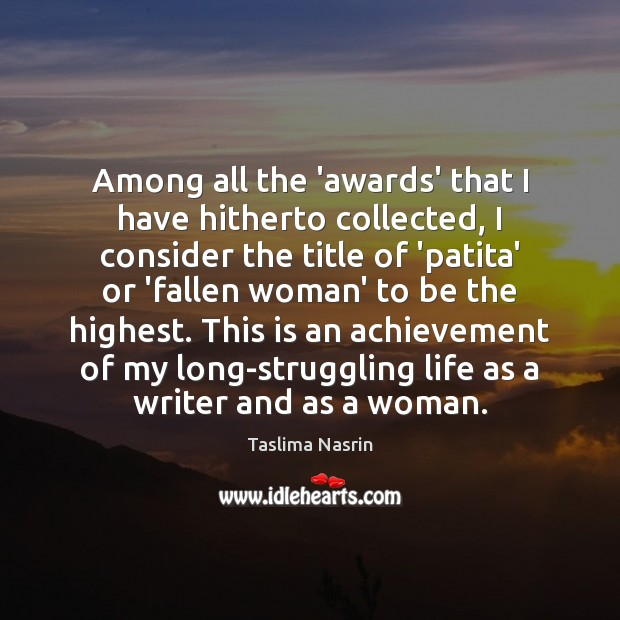 Image, Among all the 'awards' that I have hitherto collected, I consider the