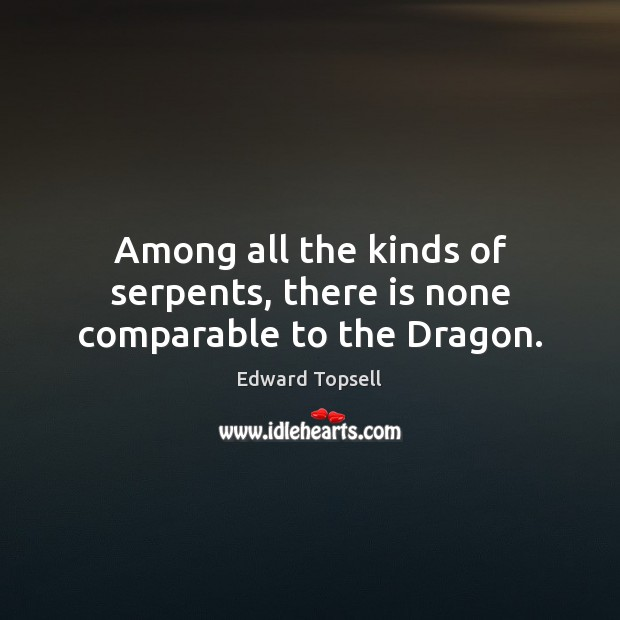 Among all the kinds of serpents, there is none comparable to the Dragon. Image