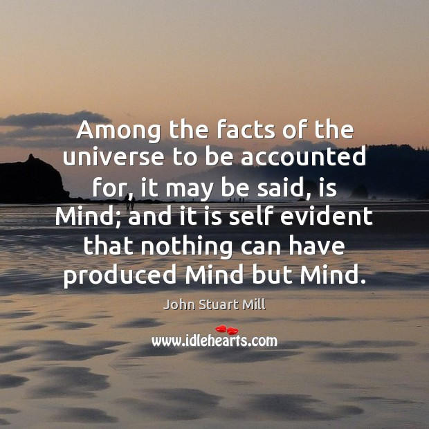 Image, Among the facts of the universe to be accounted for, it may
