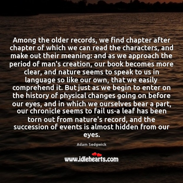 Image, Among the older records, we find chapter after chapter of which we