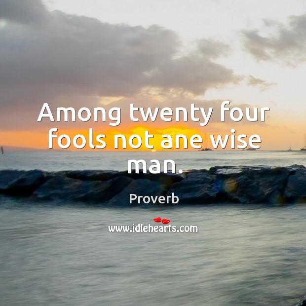 Image, Among twenty four fools not ane wise man.