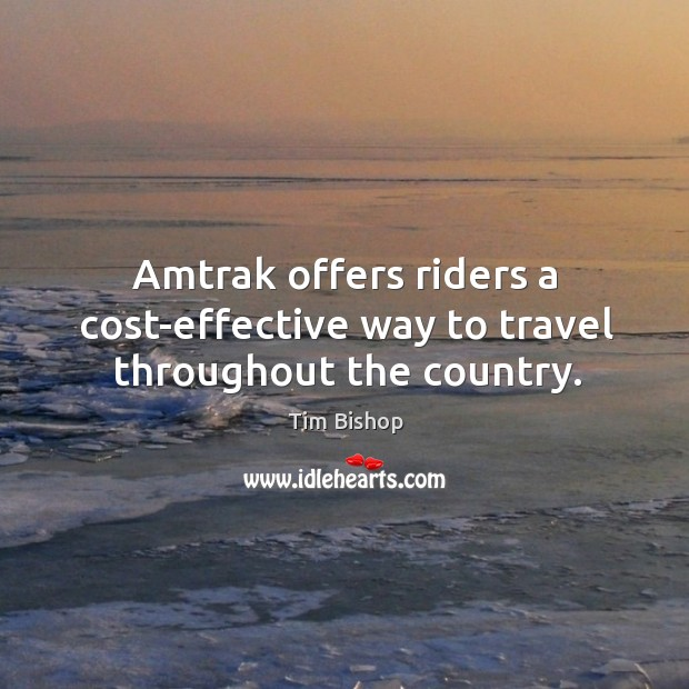 Image, Amtrak offers riders a cost-effective way to travel throughout the country.