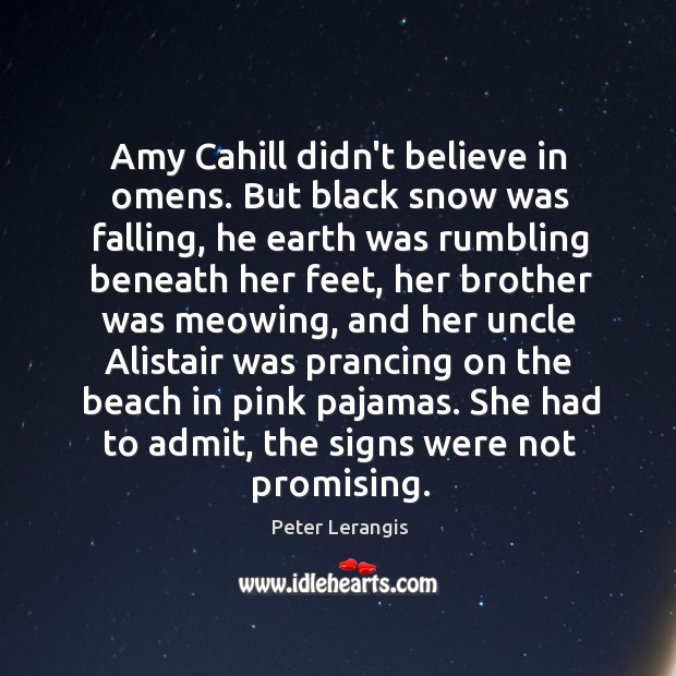 Image, Amy Cahill didn't believe in omens. But black snow was falling, he