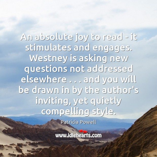 An absolute joy to read – it stimulates and engages. Westney is Image