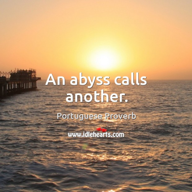 An abyss calls another. Image