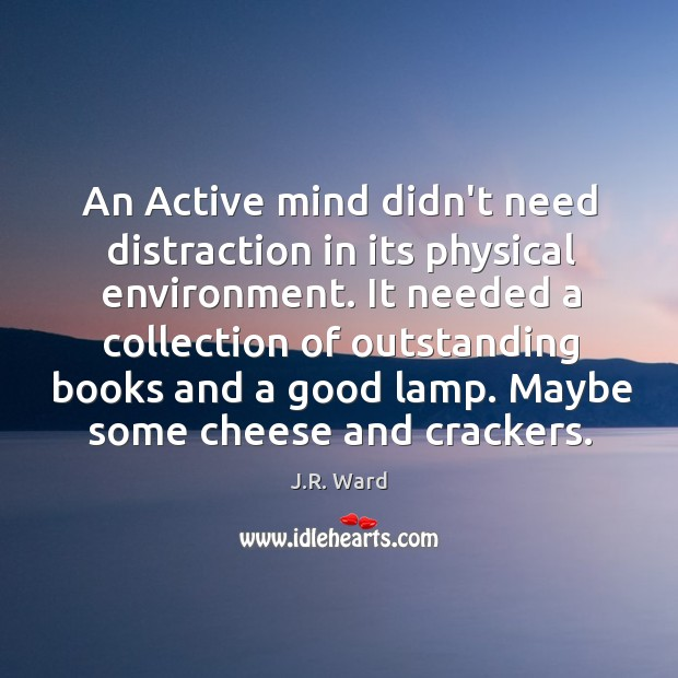 Image, An Active mind didn't need distraction in its physical environment. It needed