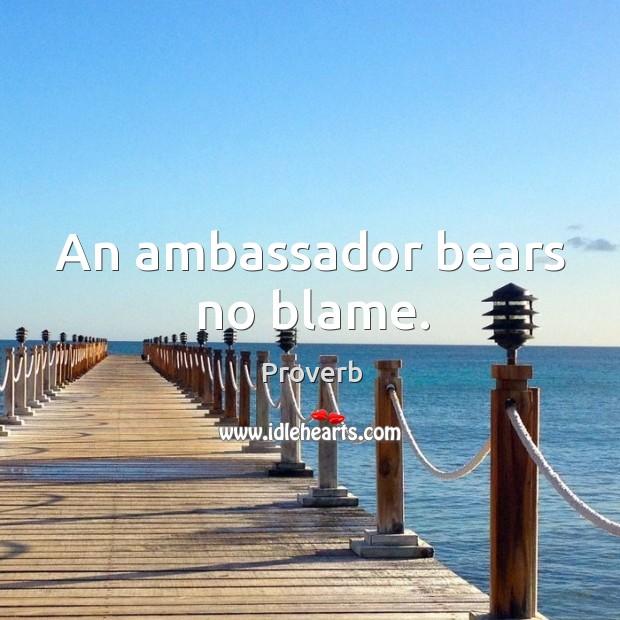 An ambassador bears no blame. Image