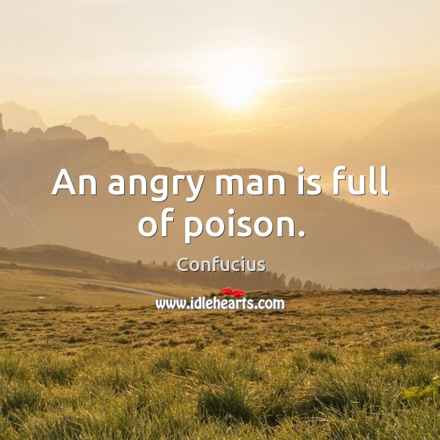 Image, An angry man is full of poison.
