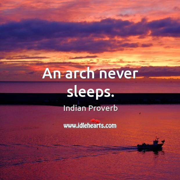 Image, An arch never sleeps.
