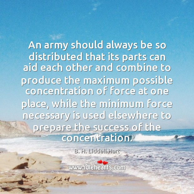 An army should always be so distributed that its parts can aid Image