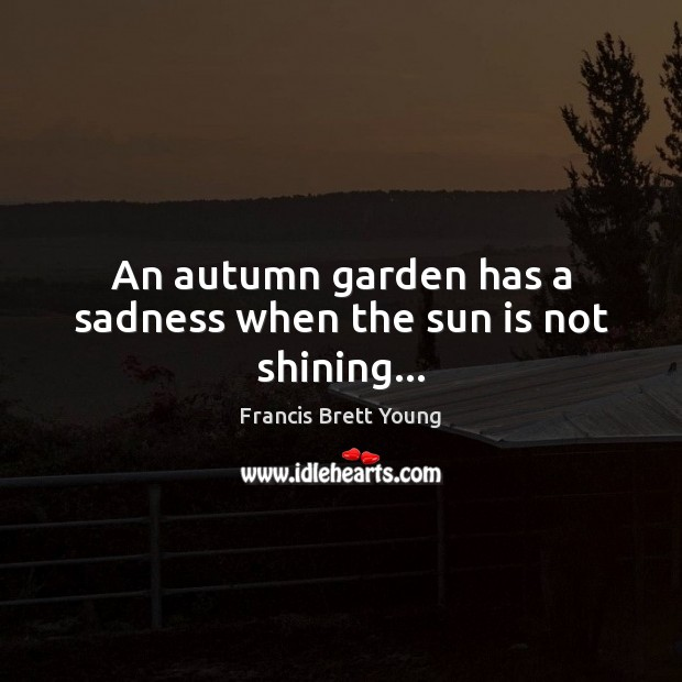 An autumn garden has a sadness when the sun is not shining… Image