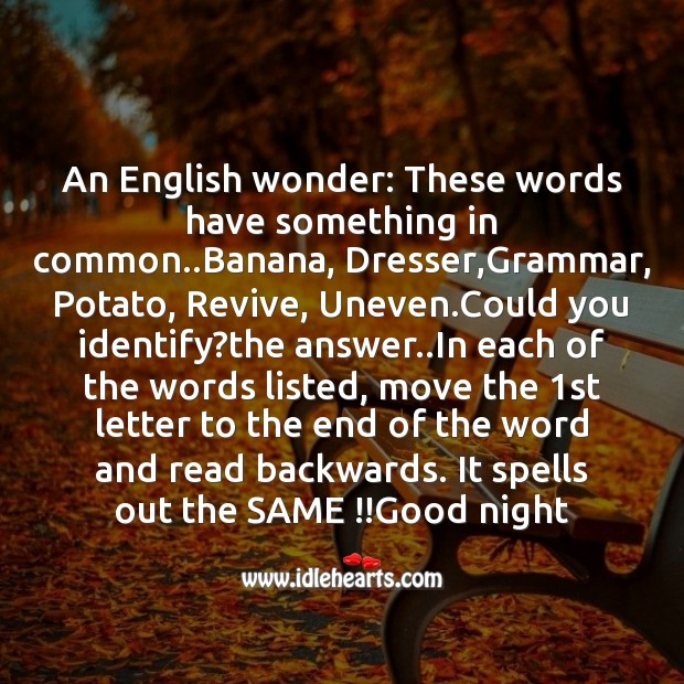 Image, An english wonder: these words have