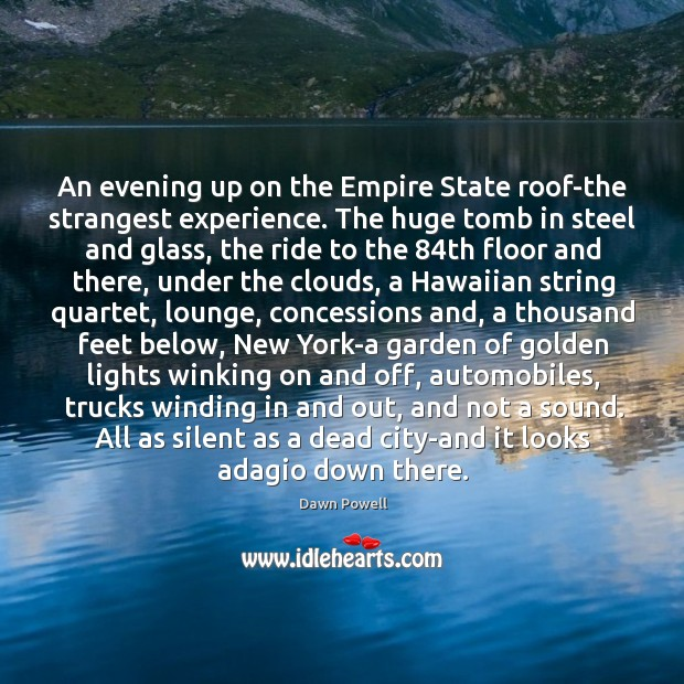 Image, An evening up on the Empire State roof-the strangest experience. The huge