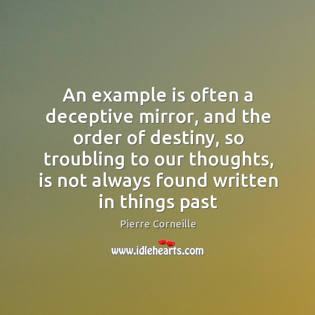 An example is often a deceptive mirror, and the order of destiny, Image