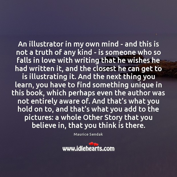 An illustrator in my own mind – and this is not a Maurice Sendak Picture Quote
