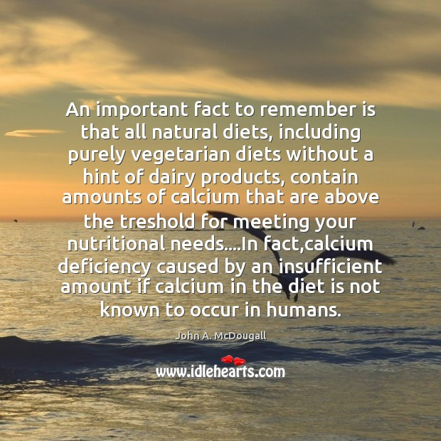 An important fact to remember is that all natural diets, including purely Diet Quotes Image