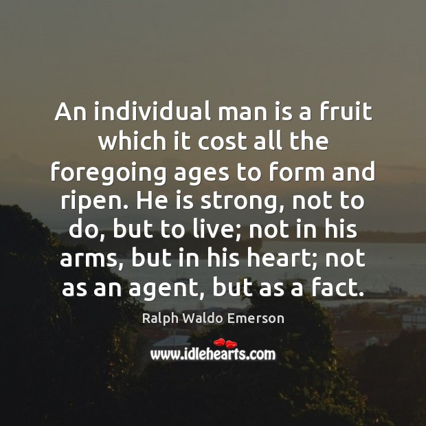 An individual man is a fruit which it cost all the foregoing Image