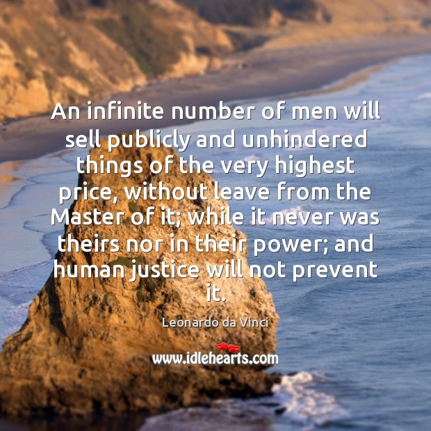 An infinite number of men will sell publicly and unhindered things of Image