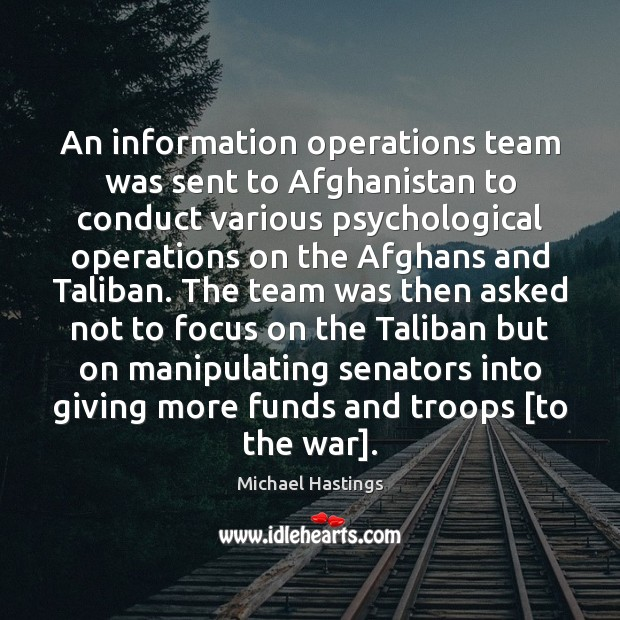 Image, An information operations team was sent to Afghanistan to conduct various psychological